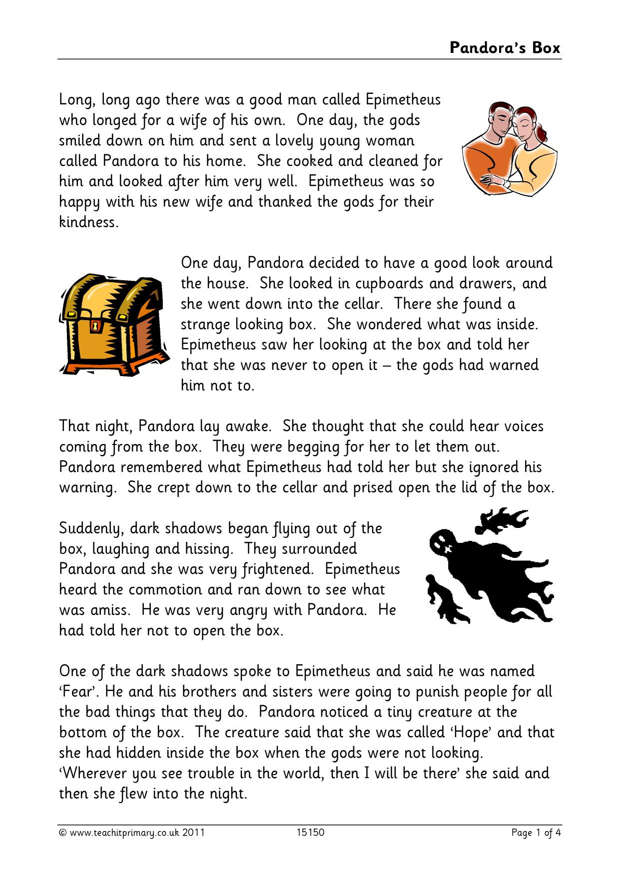 Pandoras box activities