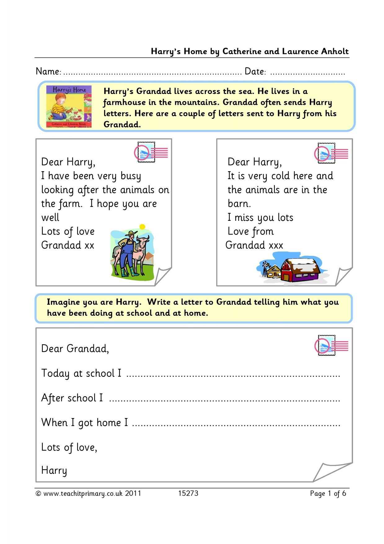 write a postcard ks2 technologies