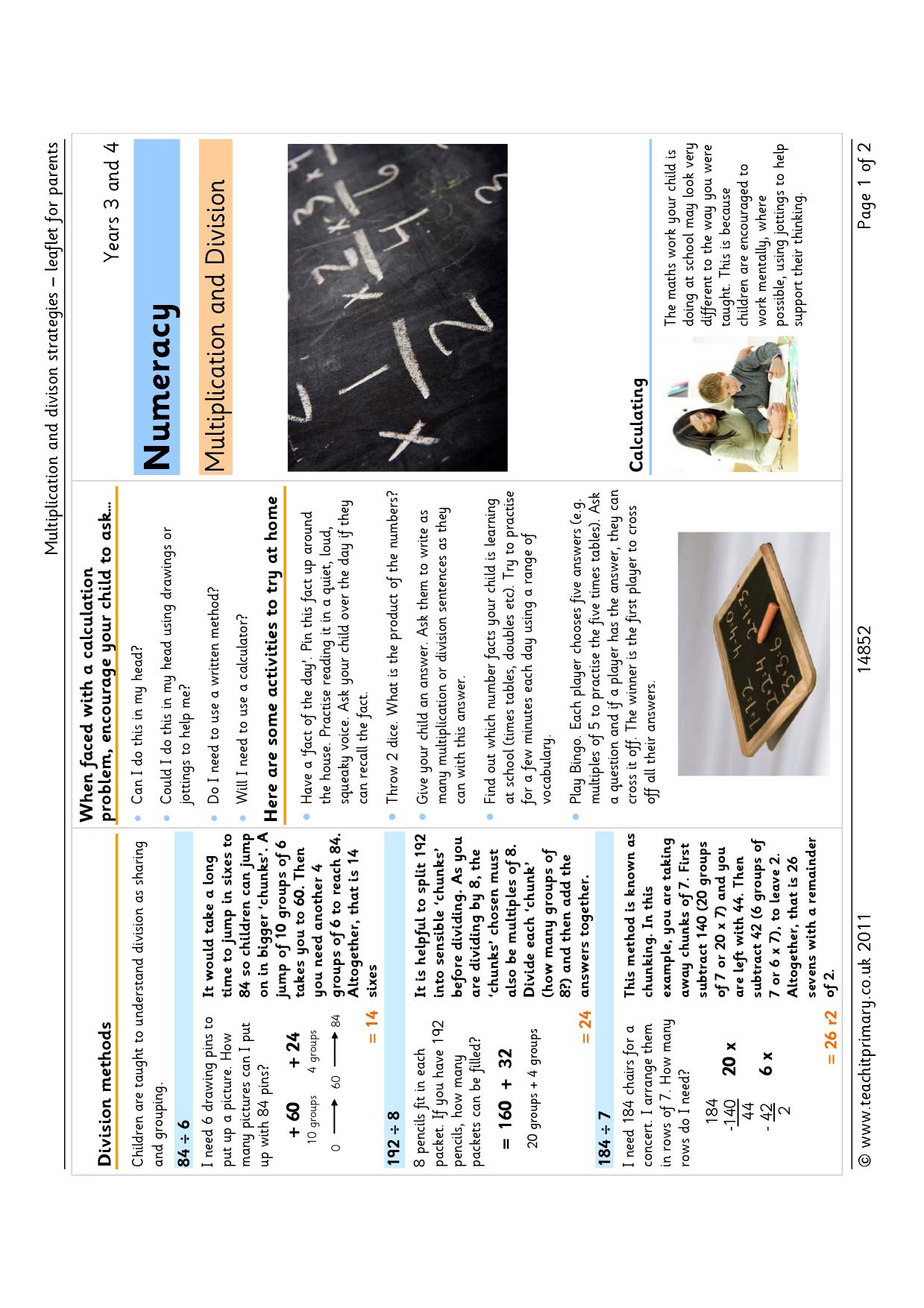 Parent leaflets - search results - Teachit Primary