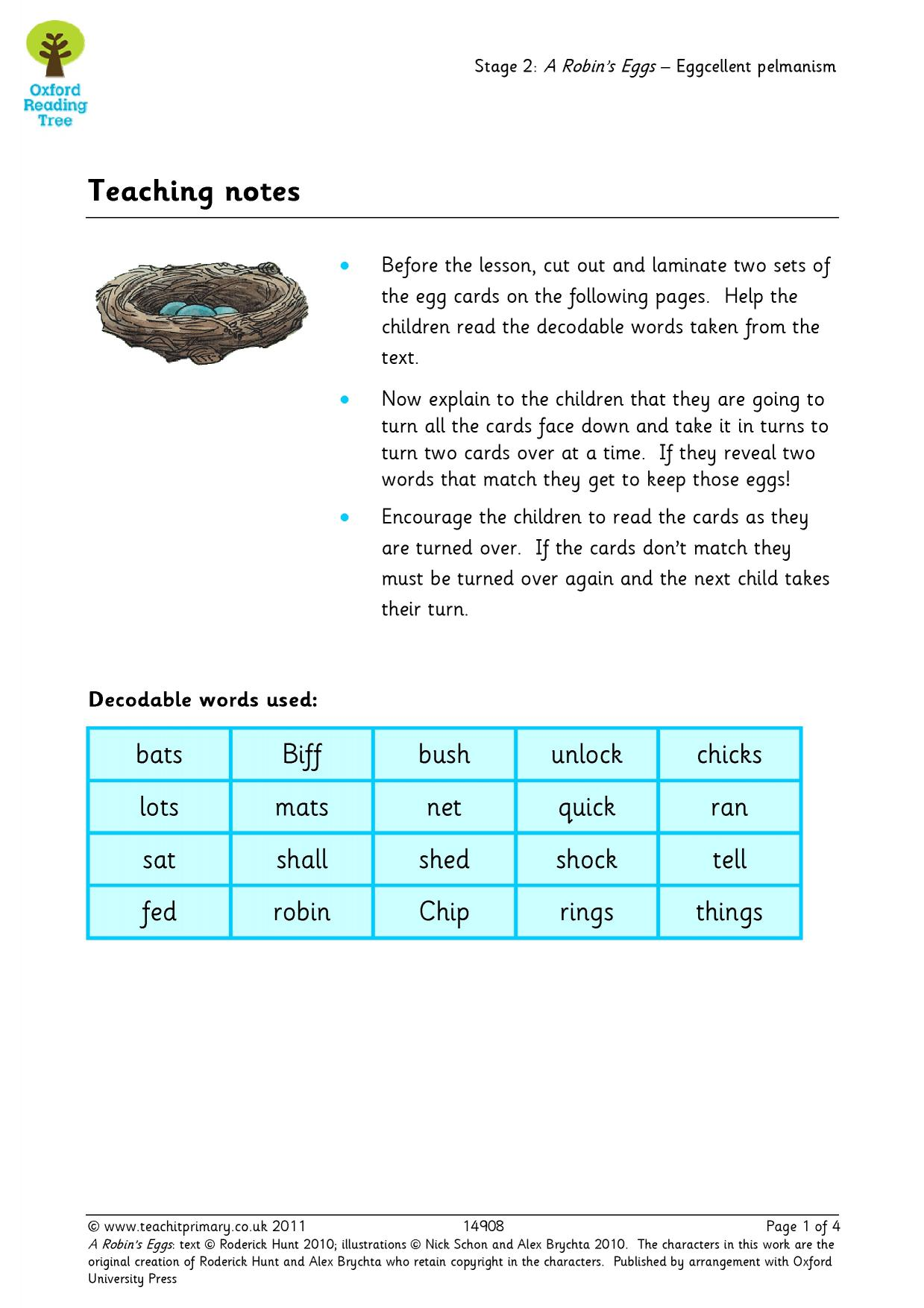 Oxford Reading Tree resources - Teachit Primary - Oxford Reading ...