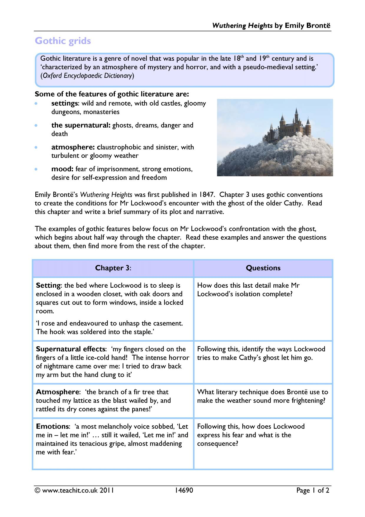 gothic literature essay overview of frankenstein gothic fiction  gothic search results teachit 4 preview