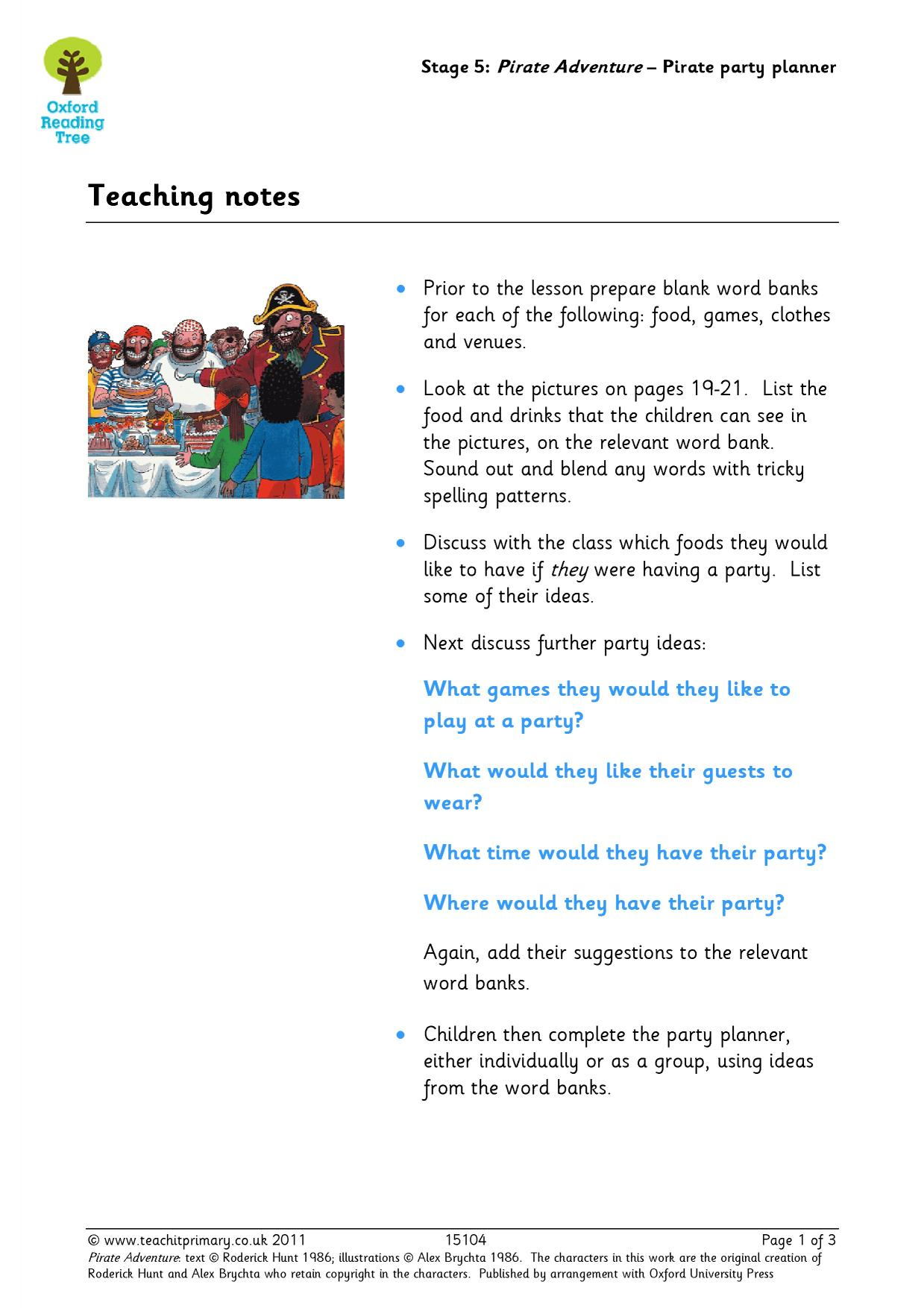 pirate - search results - Teachit Primary