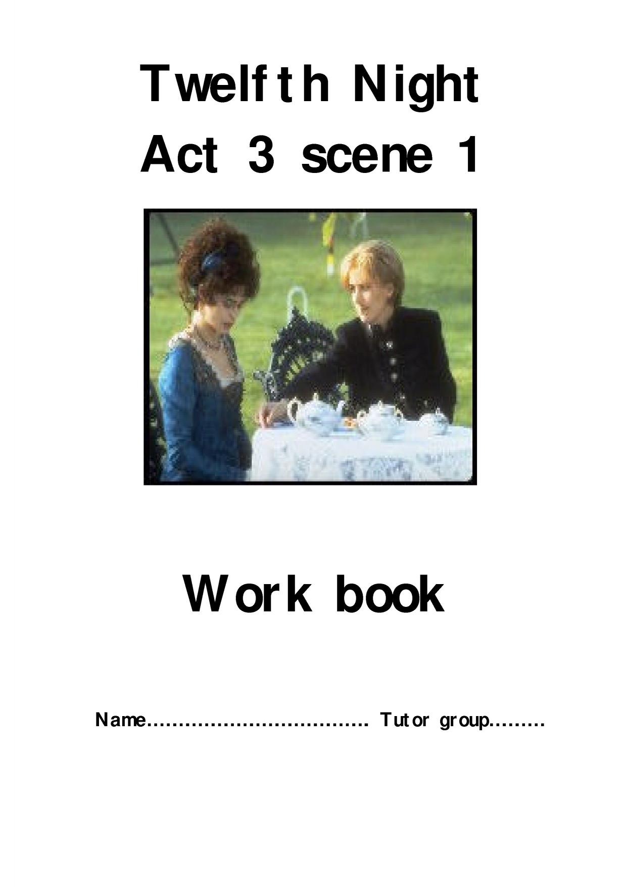 twelfth night act 3 scene 4 essay
