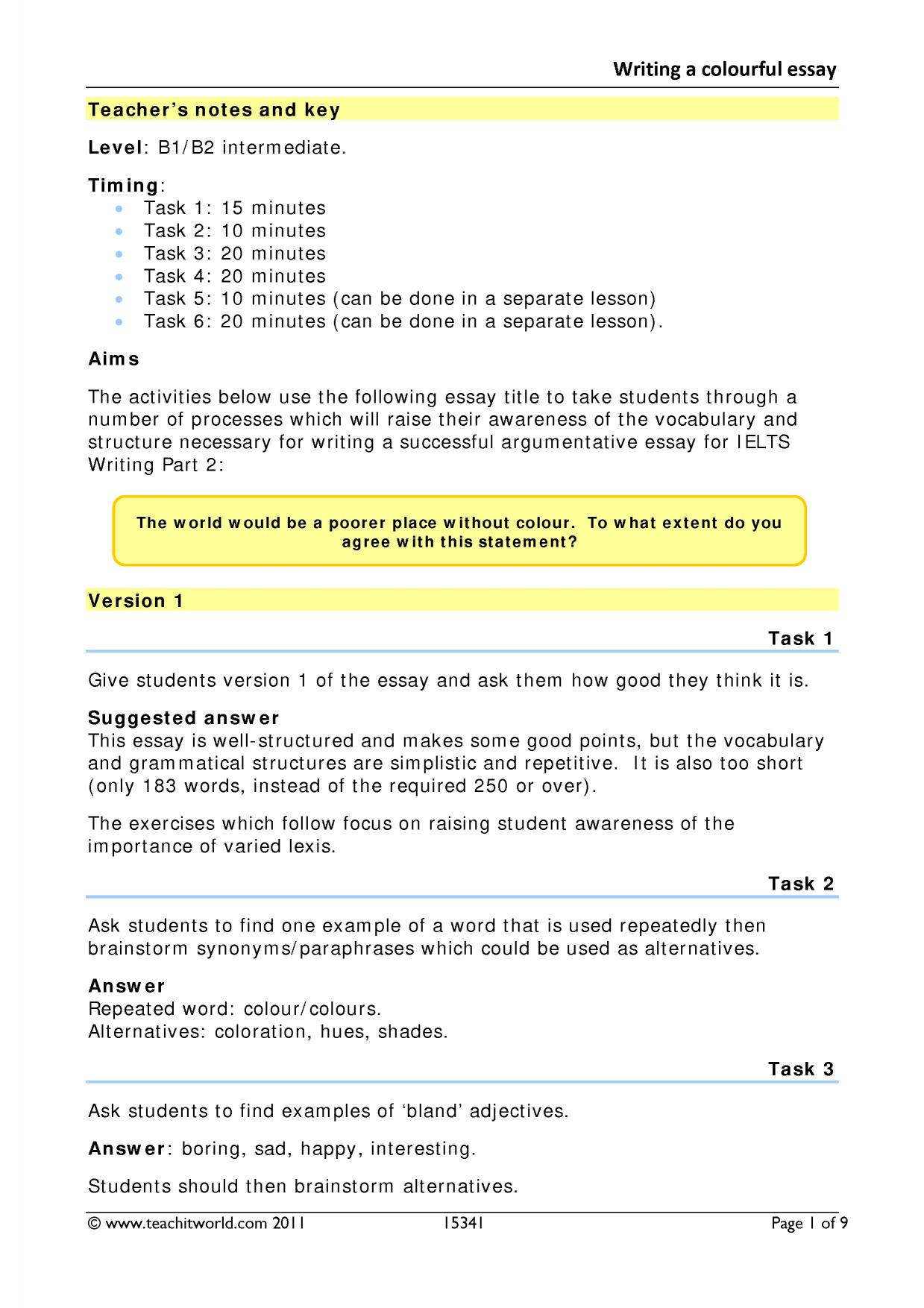 essays b2 writing b2 upper intermediate resources by level 1 preview