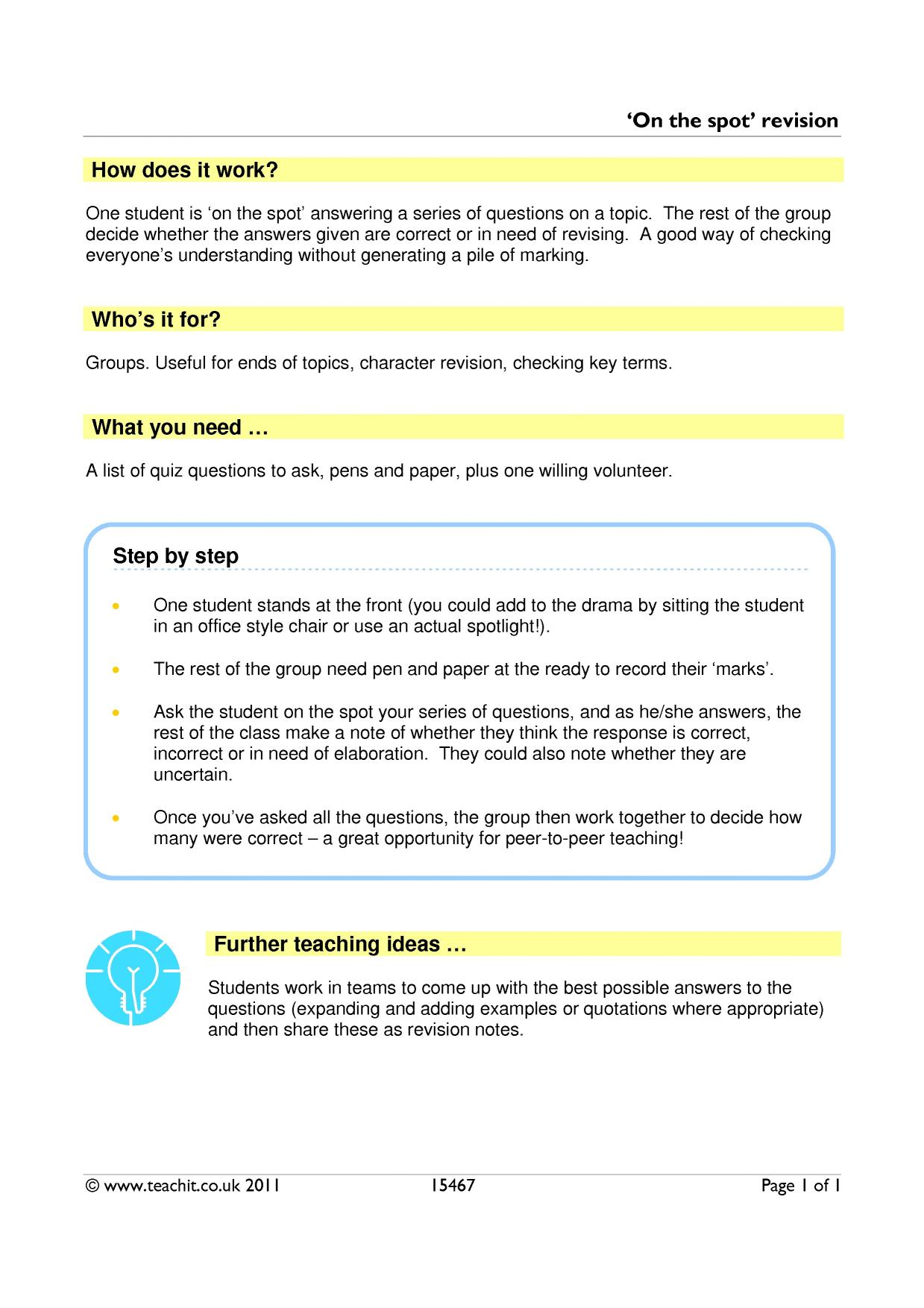revision search results teachit english
