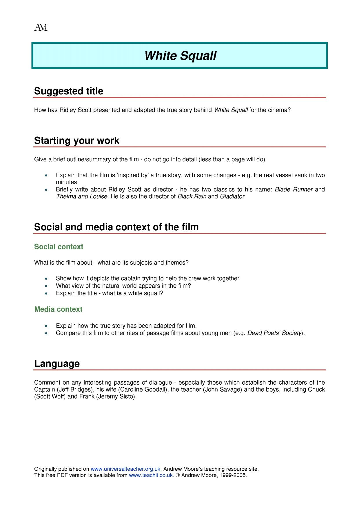 the bad spys guide search results Teachit English – Dead Poets Society Worksheet