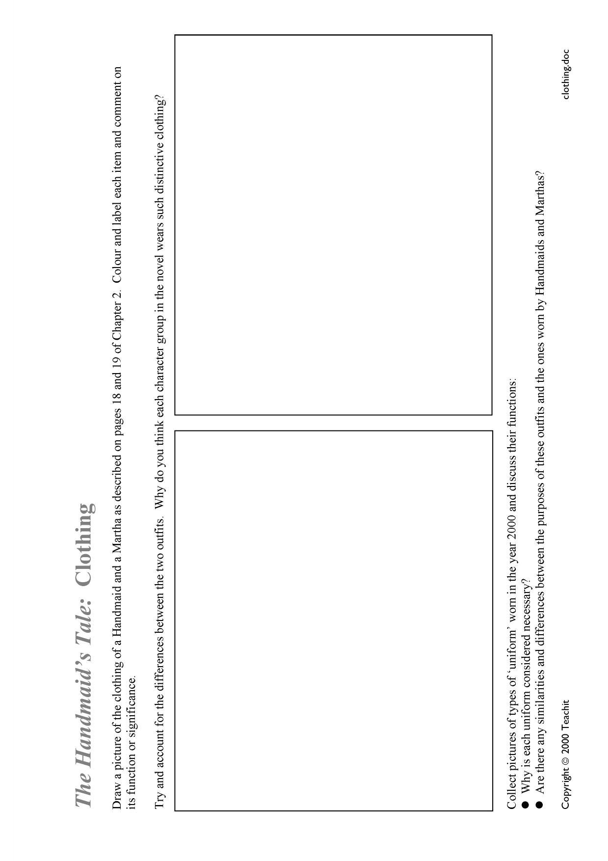 Essay questions handmaid tale
