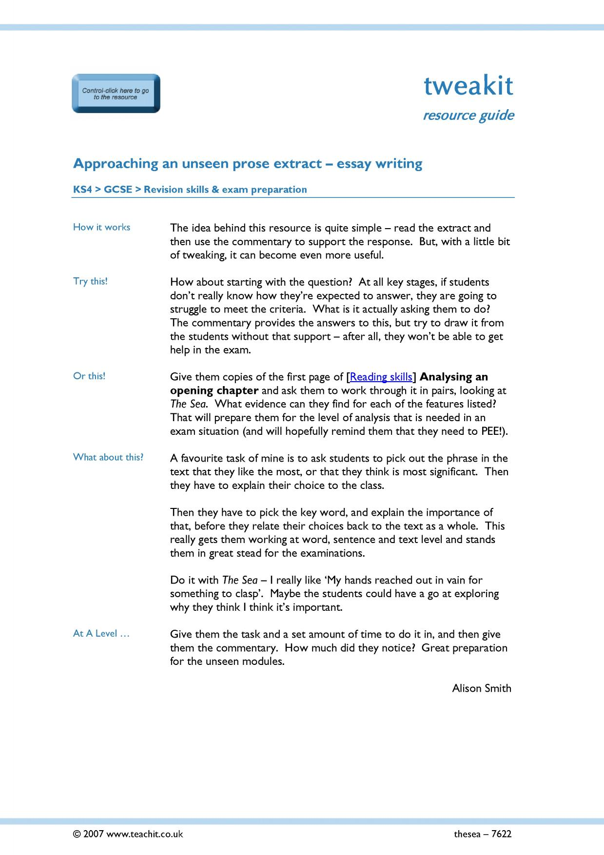 essay writing skills key stage 5 english literature key 8 preview