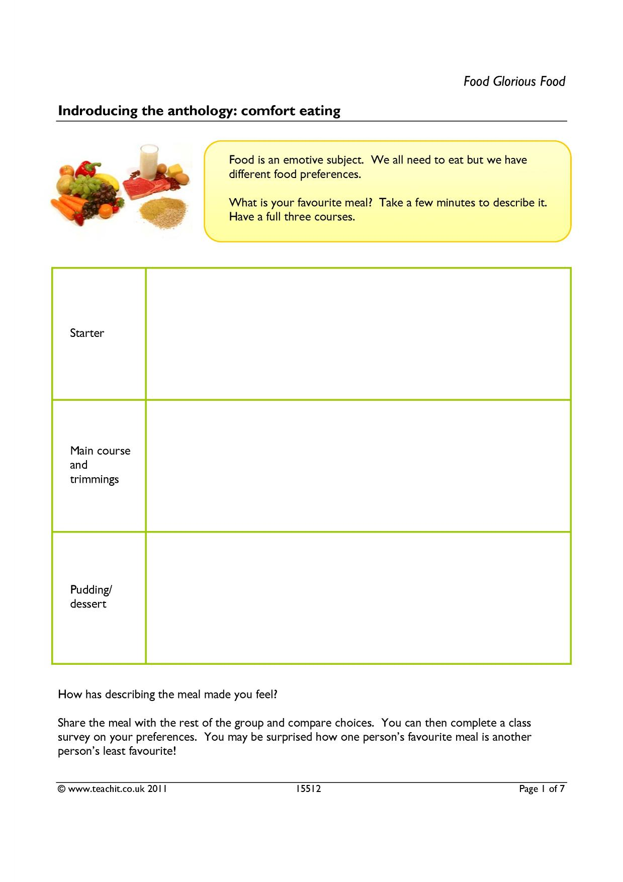 aqa food anthology essay Gcse food prep accredited specification for first teaching in 2016 (4751 kb)  thinking of teaching food with us group of people apply to be an examiner or.
