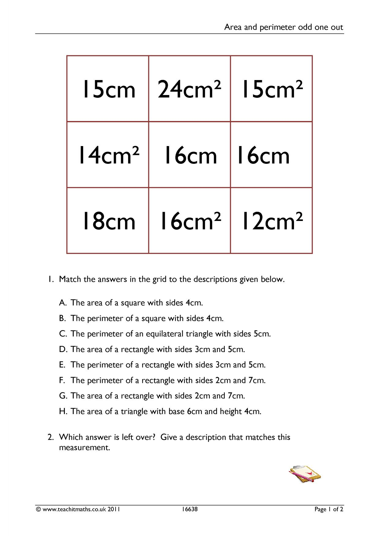 worksheet Perimeter Of A Polygon Worksheet area and perimeter polygons search results teachit maths 5 preview