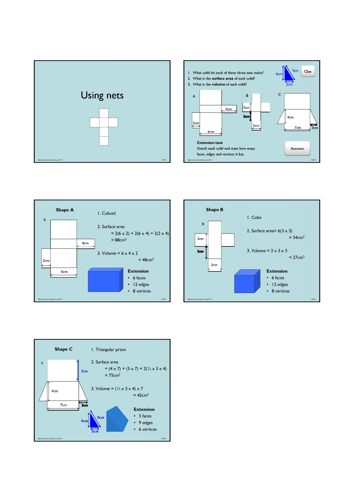 surface area - search results - Teachit Maths