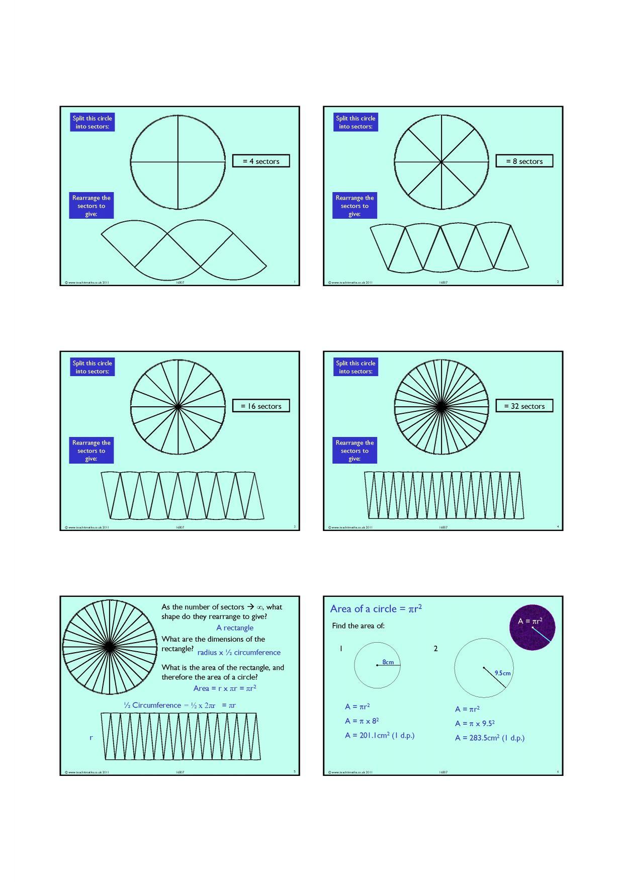 Circumference of a circle ks3