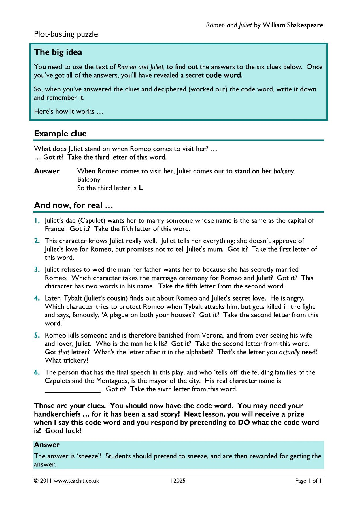 romeo and juliet ks3 plays key stage 3 resources 7 preview