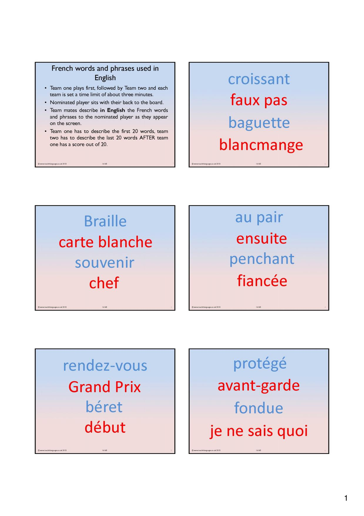 ks4 french cognates and false friends teachit languages. Black Bedroom Furniture Sets. Home Design Ideas