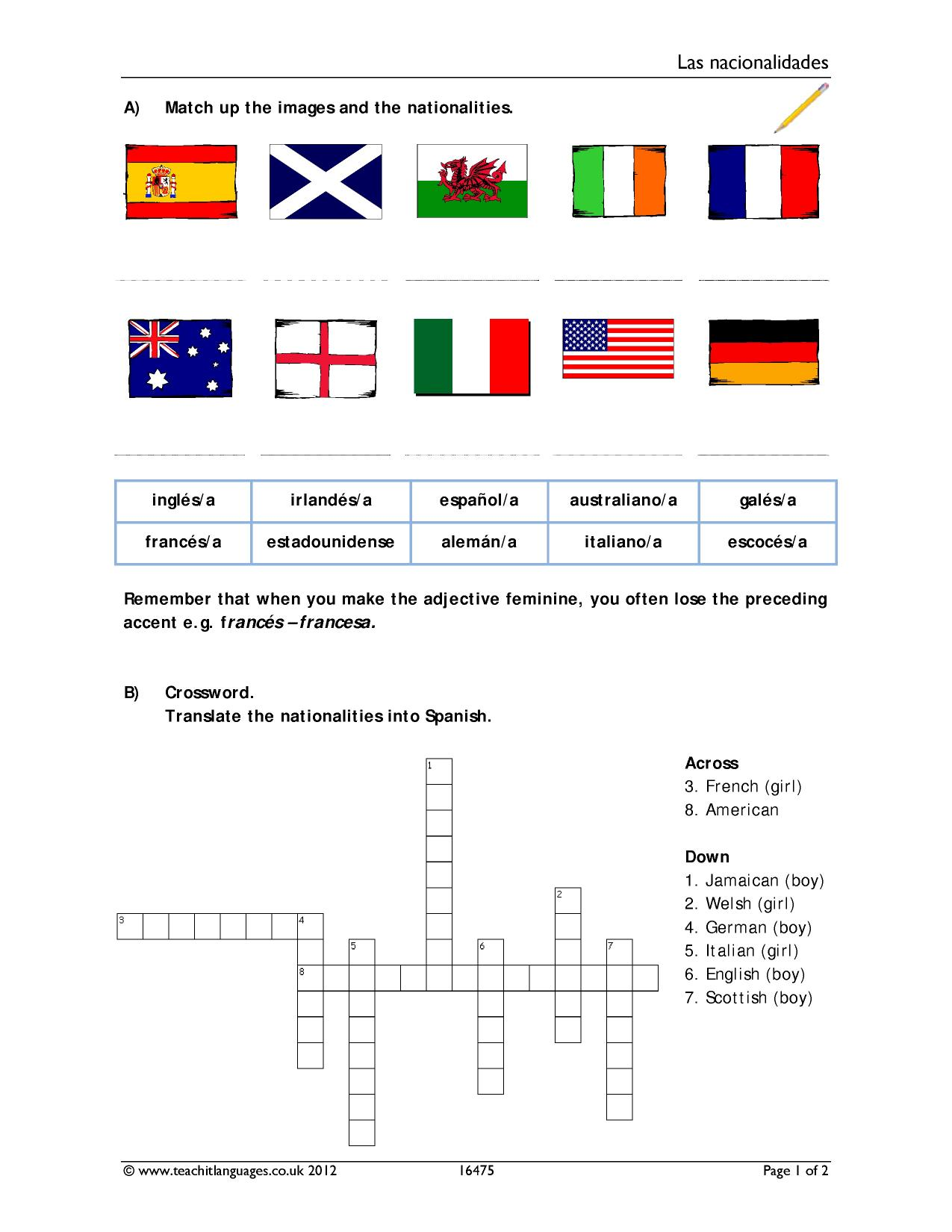 KS3 | KS4 | KS5 | Countries and nationalities | Teachit Languages