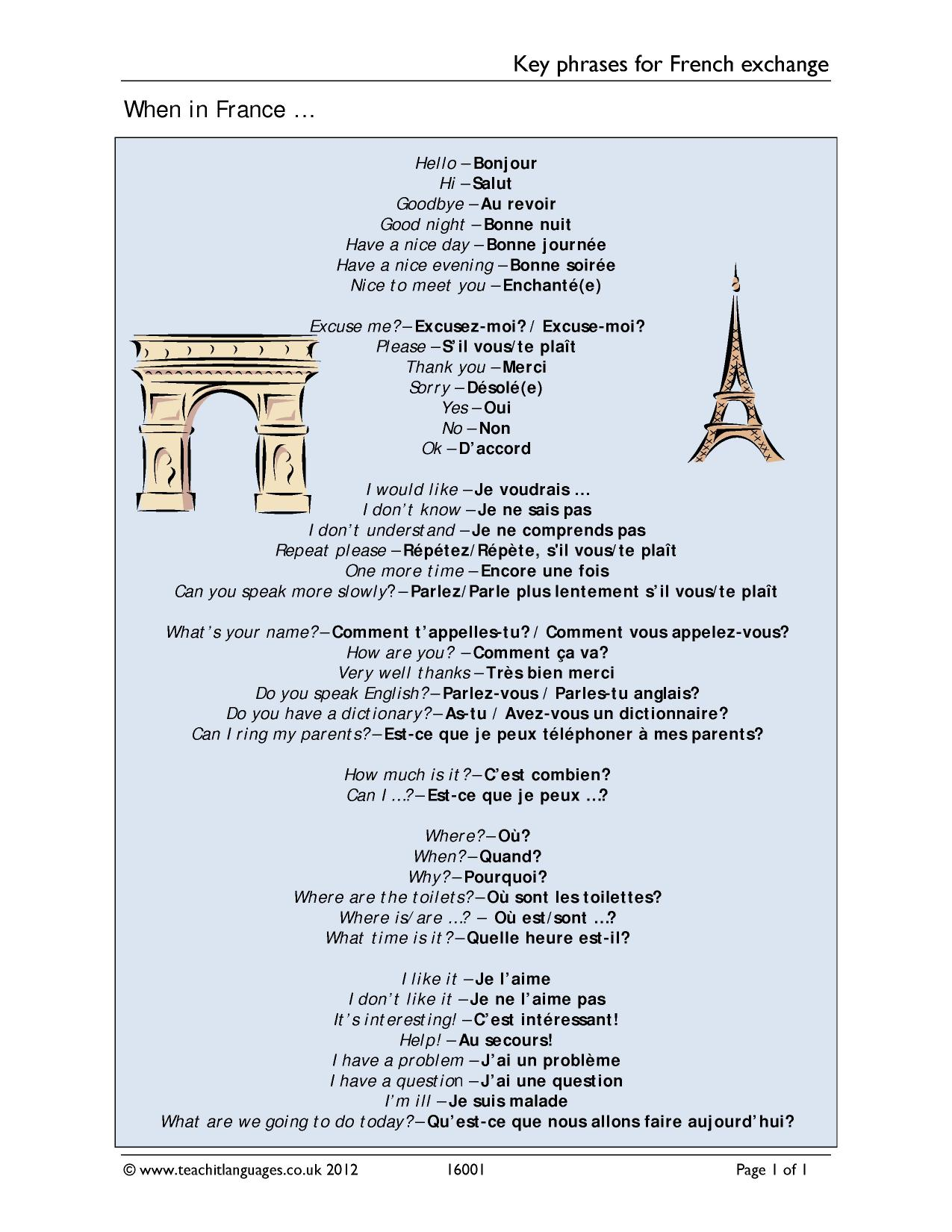 KS3 French | Holidays and transport | Teachit Languages