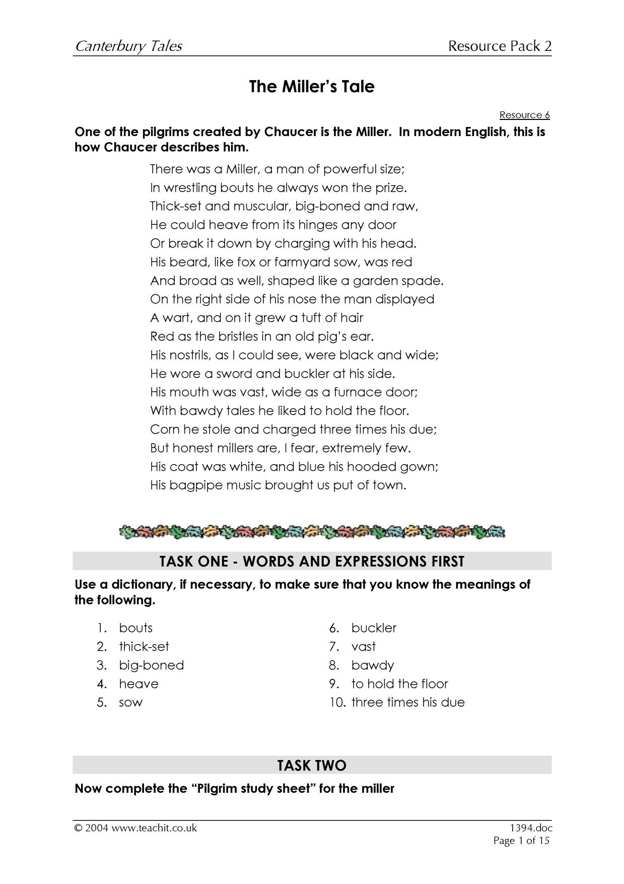 essay questions on the canterbury tales Ap literature style essay prompts for chaucer's the canterbury tales by crhude in types school work essays & theses, chaucer, and canterbury tales.