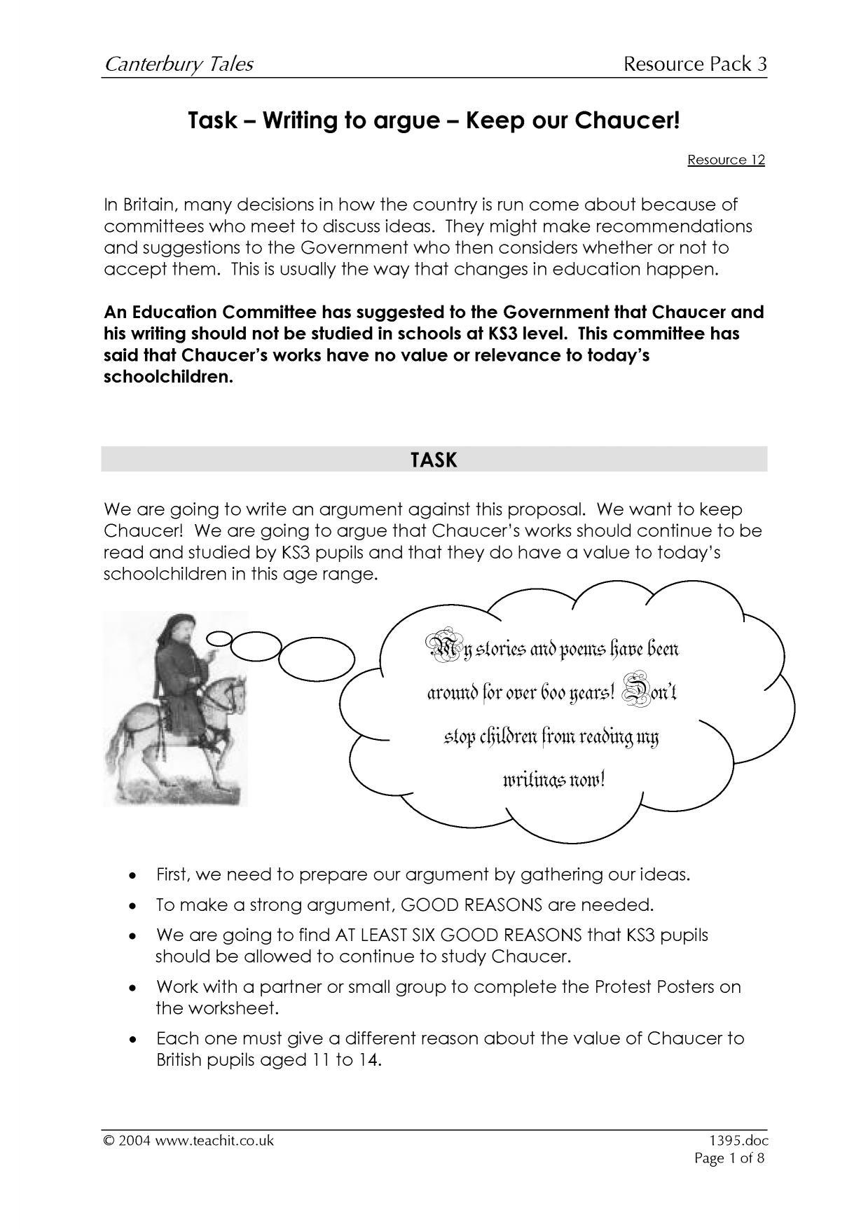 Causal chain essay
