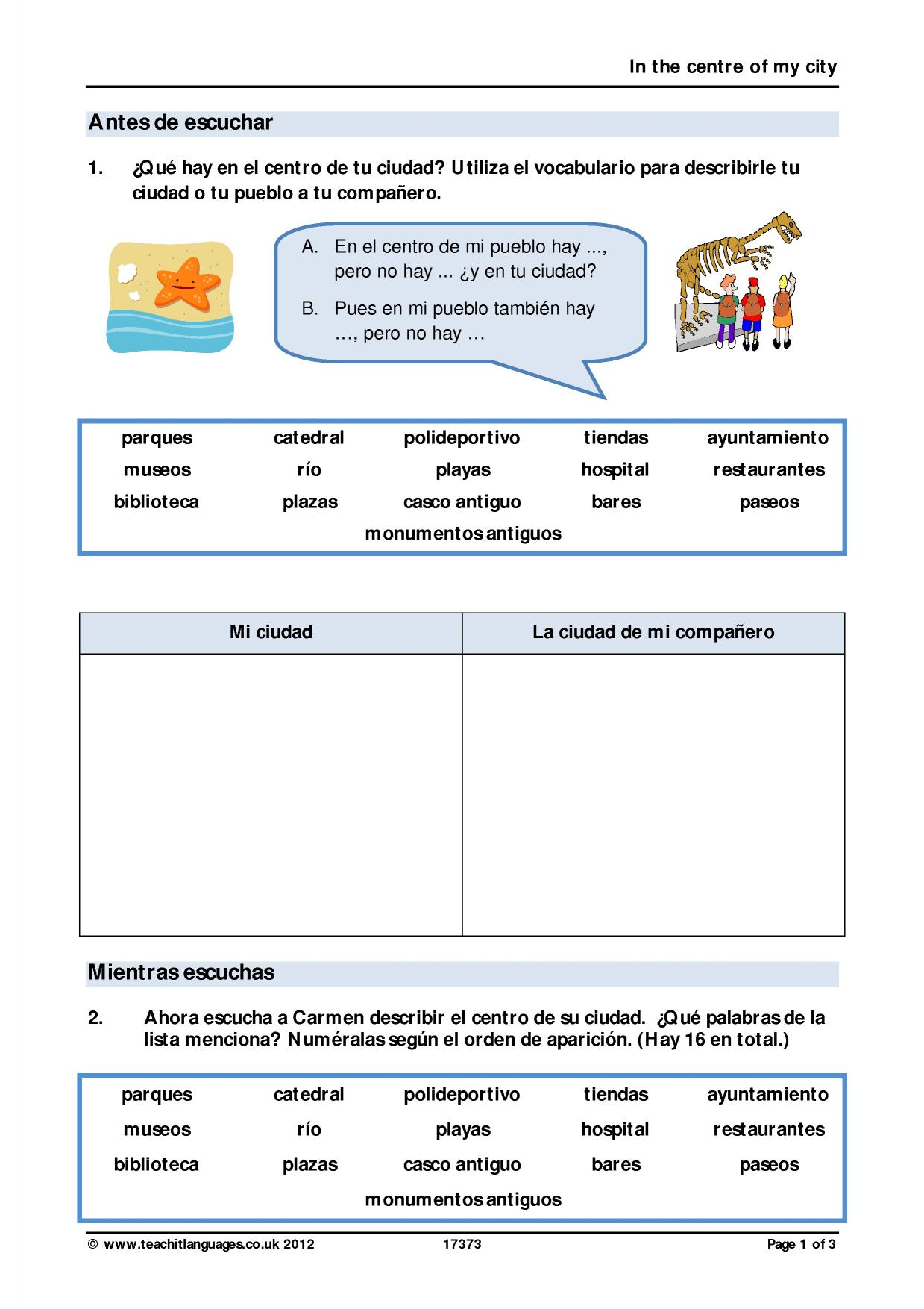 worksheet Cuantos Hay Worksheet ks4 speaking teachit languages 2 preview