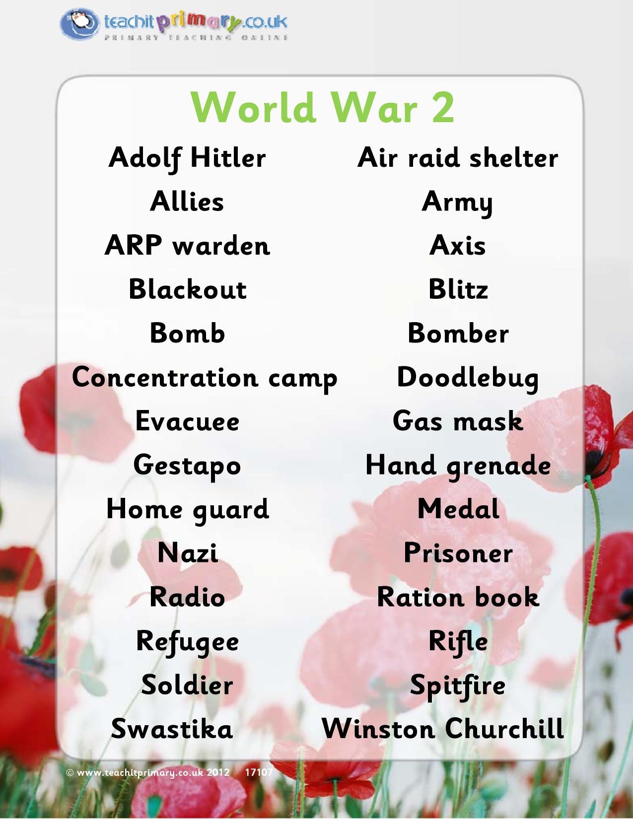 World War II Homeschool History-Manhattan Project,Vocabulary & A. Frank