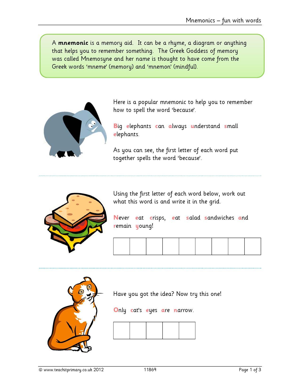 KS2 | Spelling for older learners | Teachit Primary
