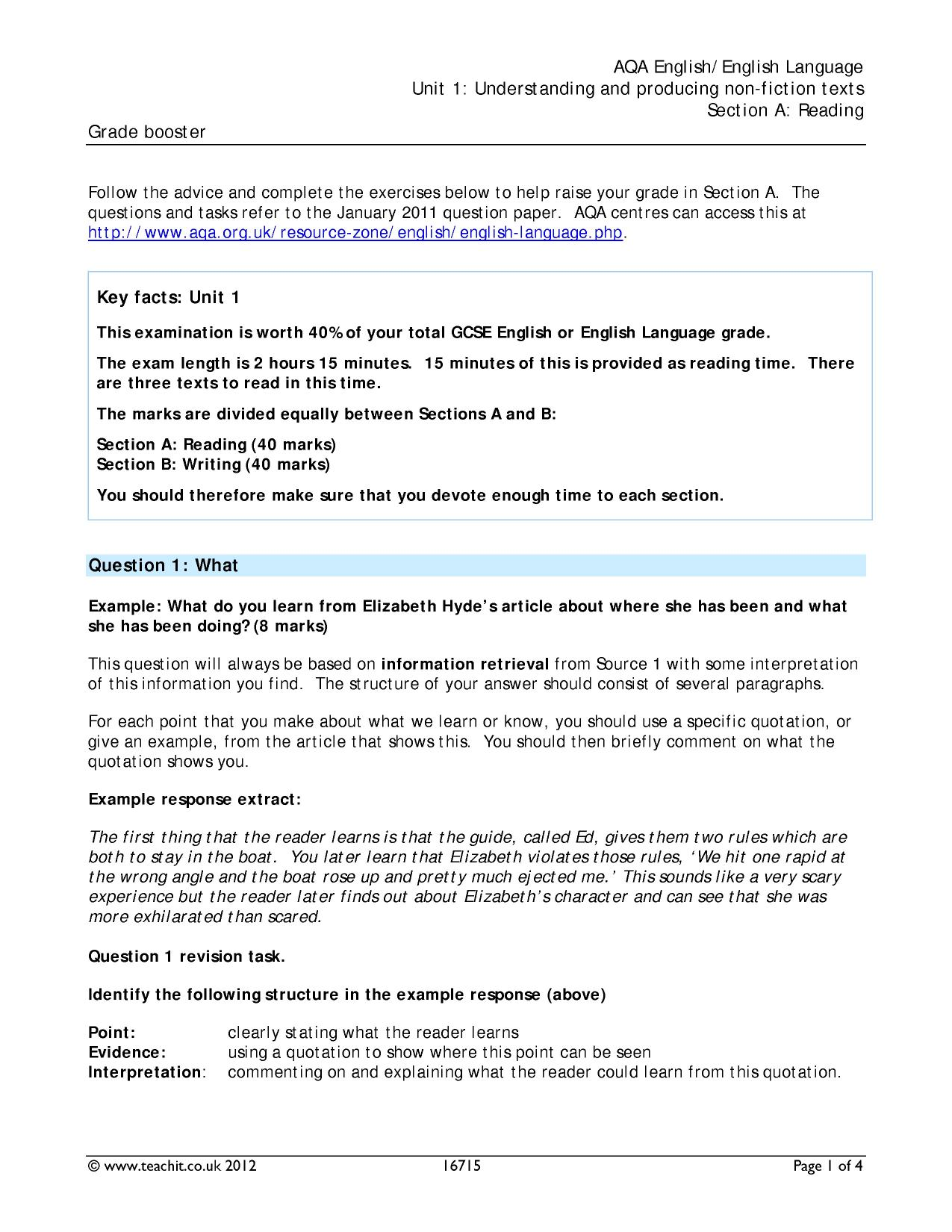 aqa food anthology compare two texts This task is mapped to the requirements of the writing section in the aqa english  to compare two poems from the set anthology  harrow high school.