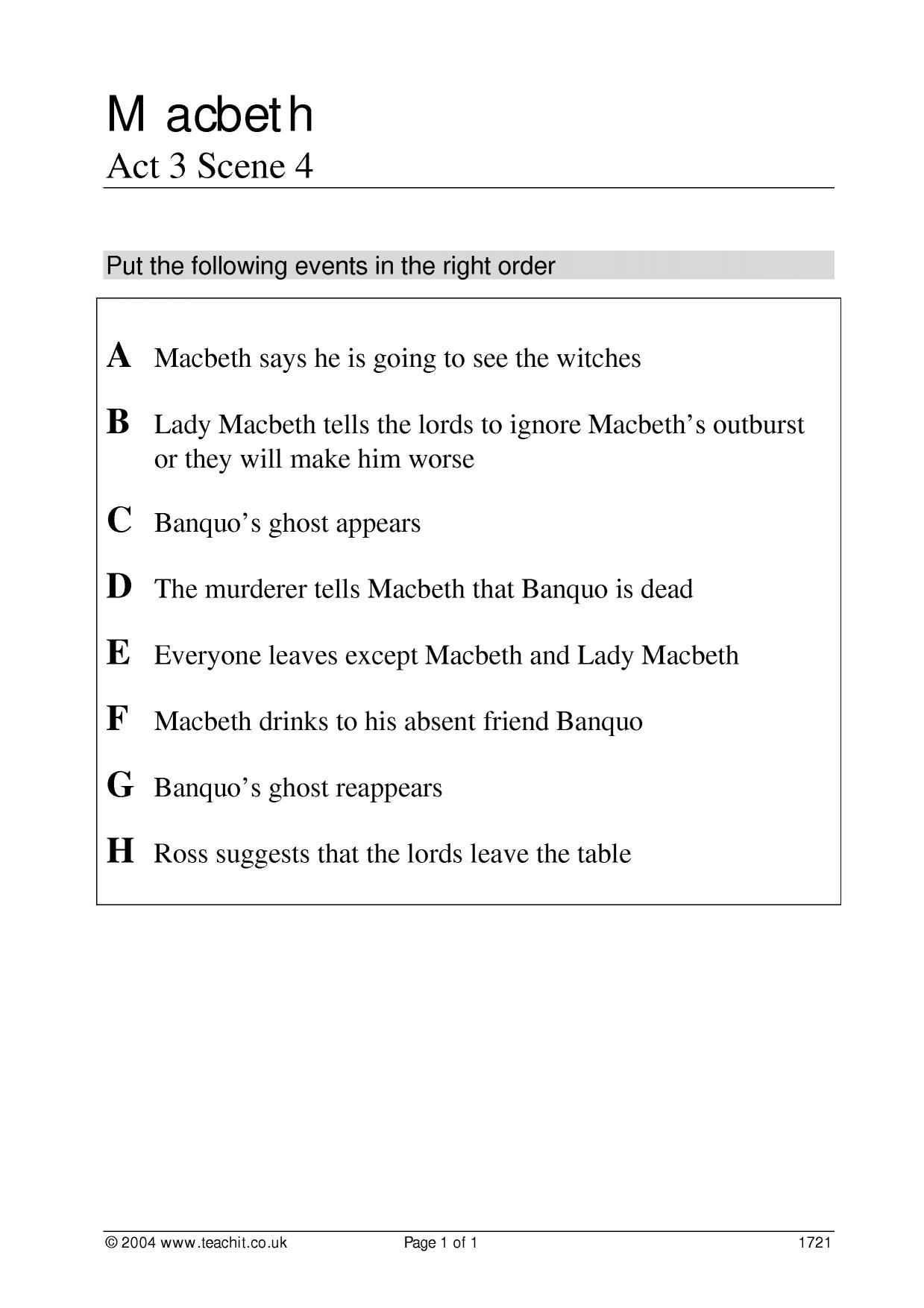 how does shakespeare present lady macbeth in act 1 scene 5 and act 1 scene 7 essay The effect of the letter (act 1, scene 5) how does lady macbeth react to the letter from macbeth lady macbeth's reaction when she reads her husband's letter is.