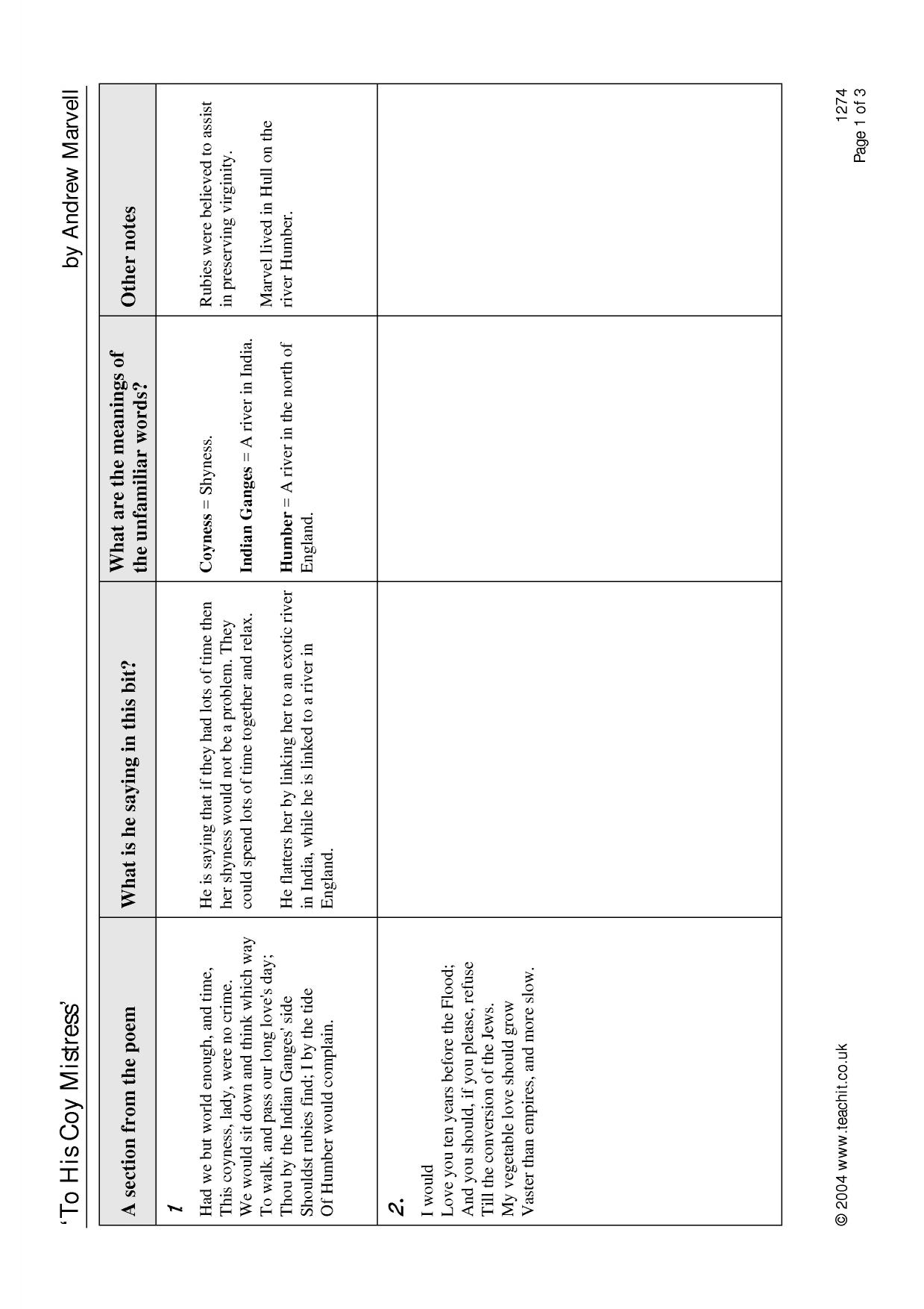 marvell andrew ks4 poetry key stage 4 resources 1 preview