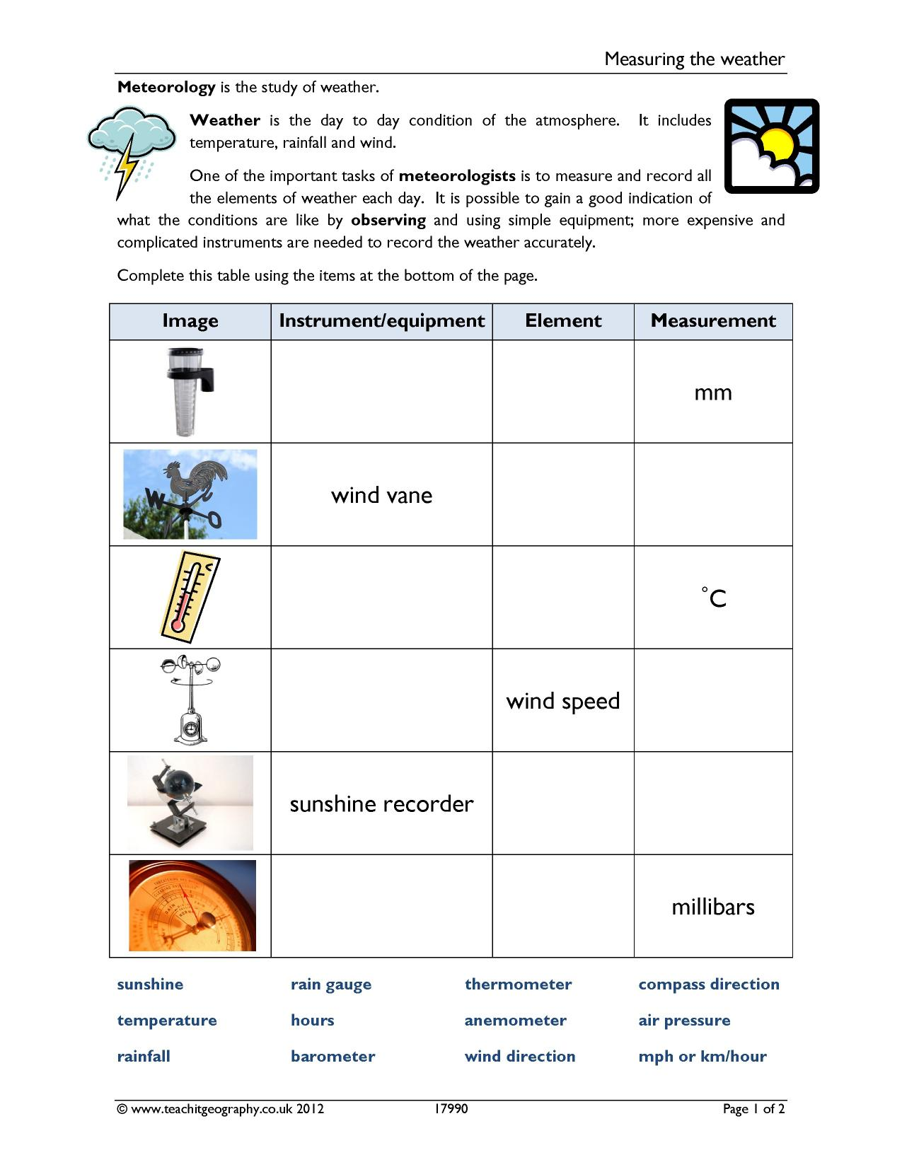 KS3   Weather   Teachit Geography