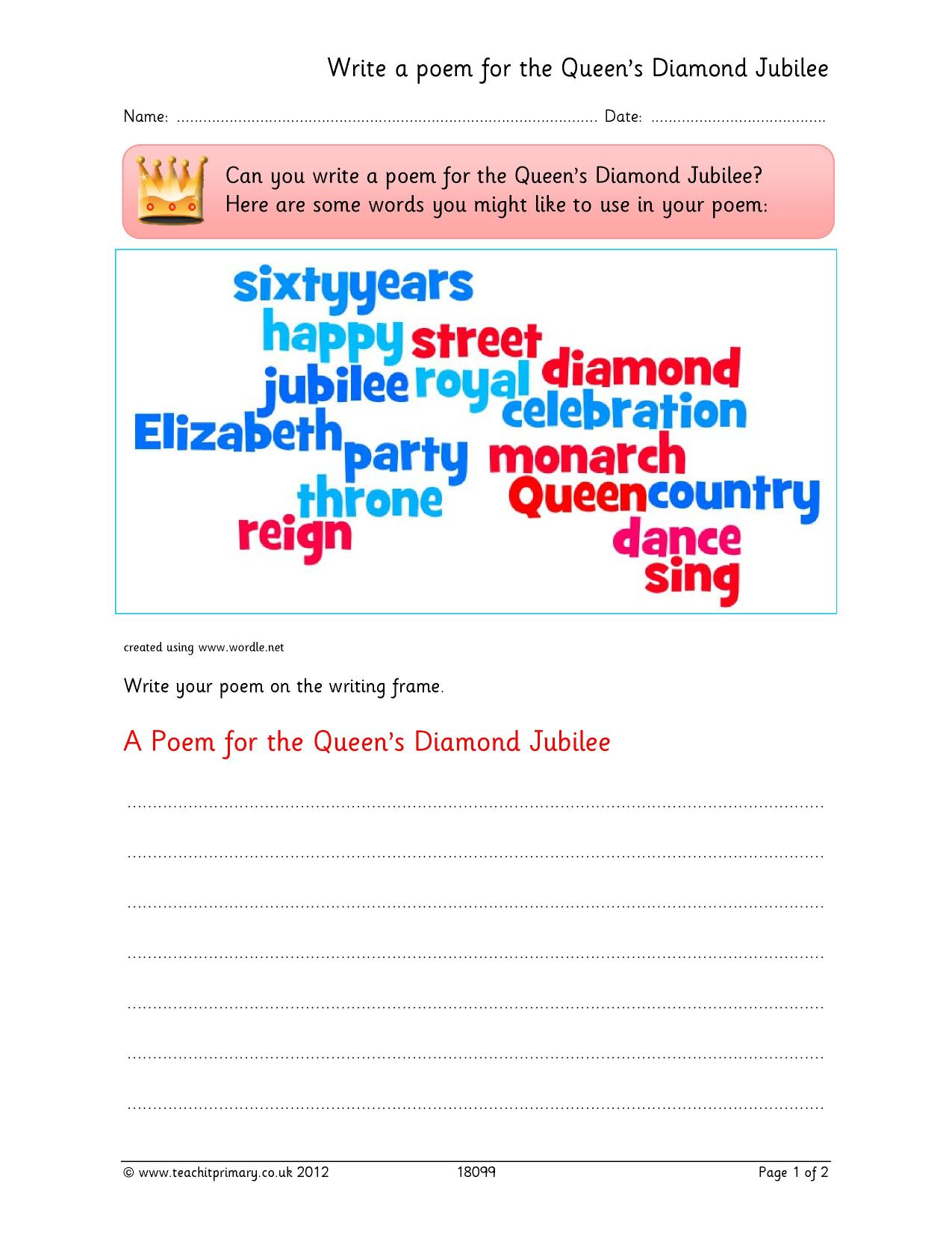 acrostic poetry - search results - Teachit Primary