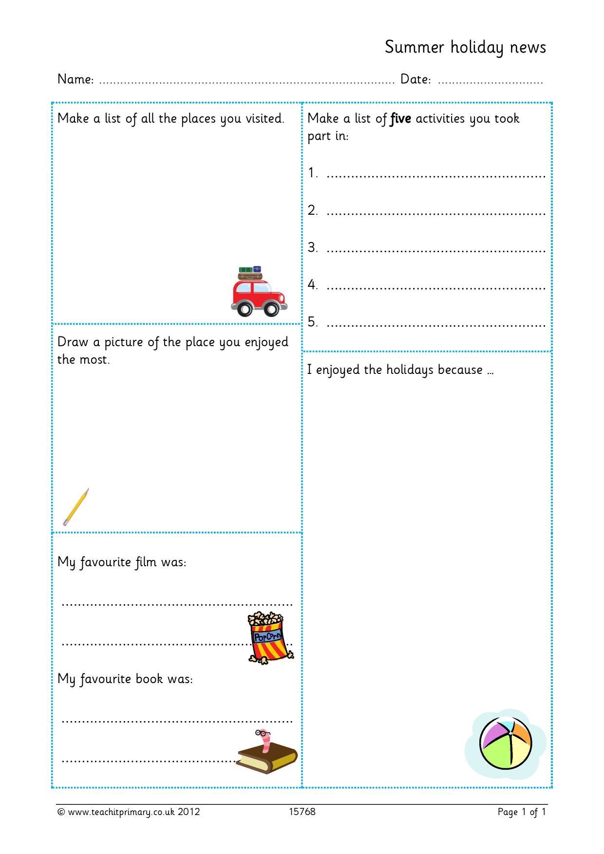 Eyfs Ks1 Ks2 Recounts Teachit Primary