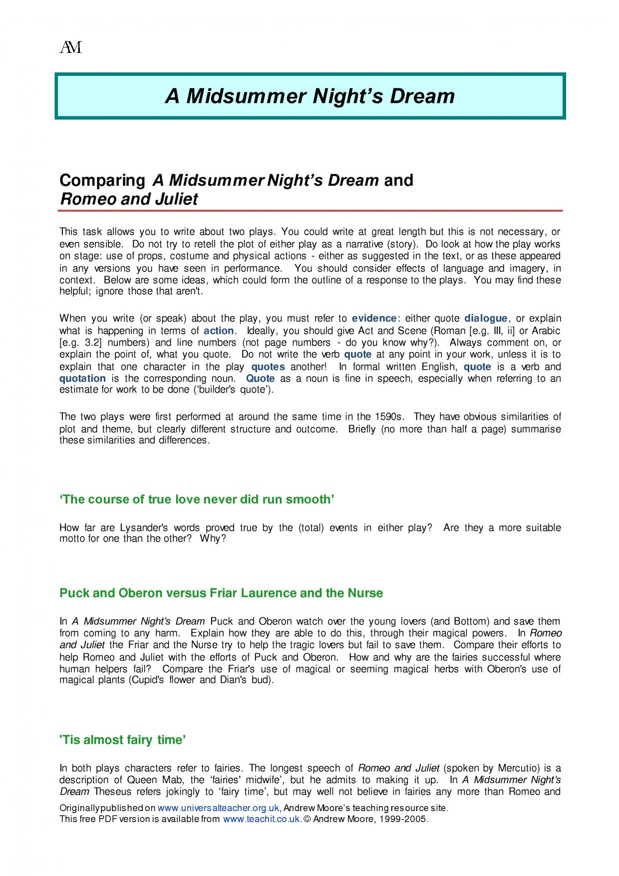 a midsummer night s dream ks plays key stage resources 6 preview