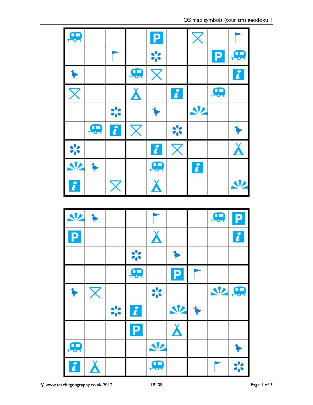 Worksheets Map Symbols Worksheet geography skills teachit 6 preview