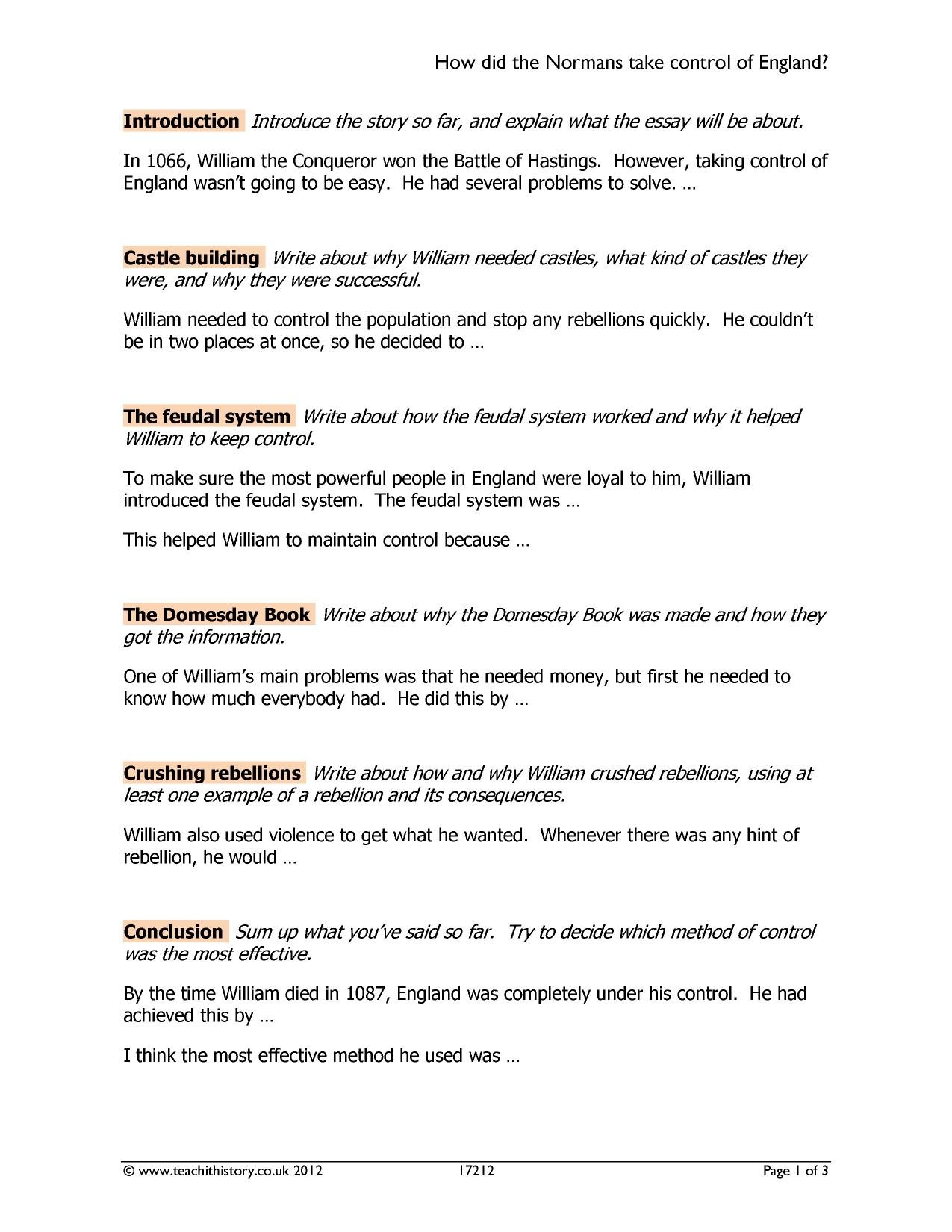 Help With A Business Plan  Preview Essays About Health also Argumentative Essay Thesis Statement Examples Ks  Power And Conflict In The Medieval Period  Teachit History Public Health Essays