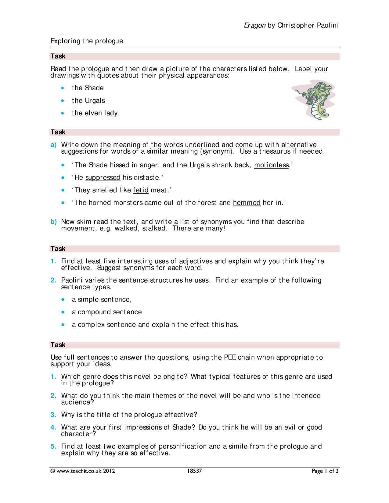 romeo juliet prologue - search results - Teachit English