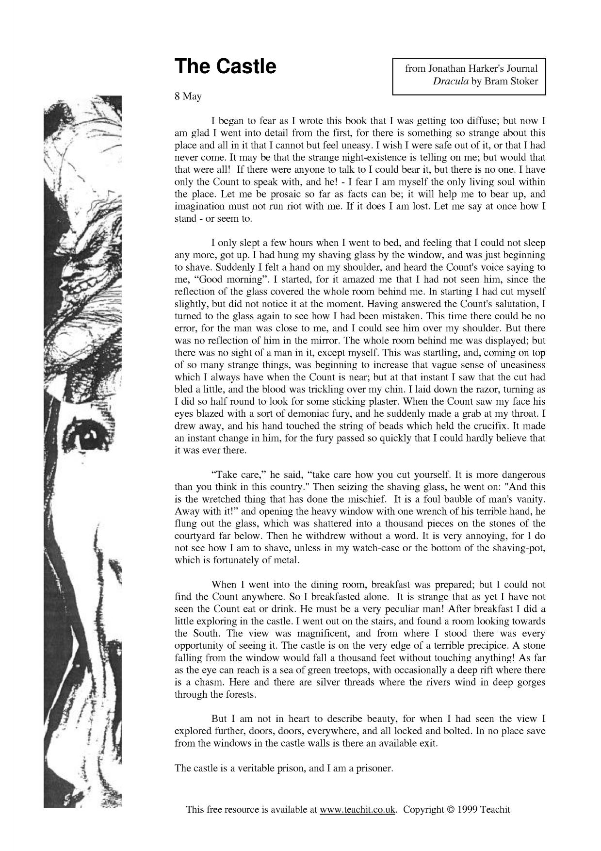 dracula by bram stoker ks prose key stage resources 1 preview