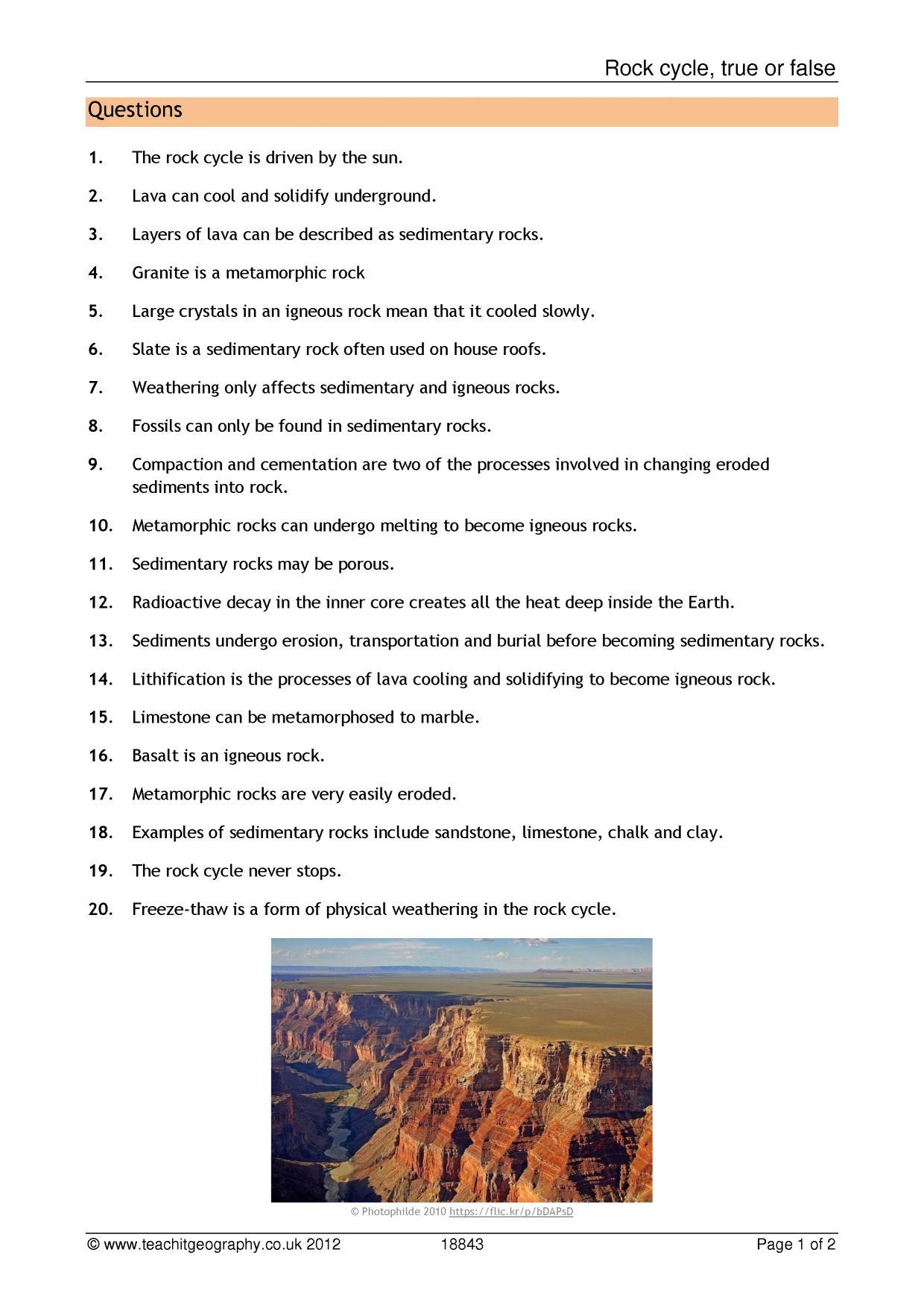 Sedimentary Rocks Worksheet Ks3 Worksheet Pages – Sedimentary Rocks Worksheet