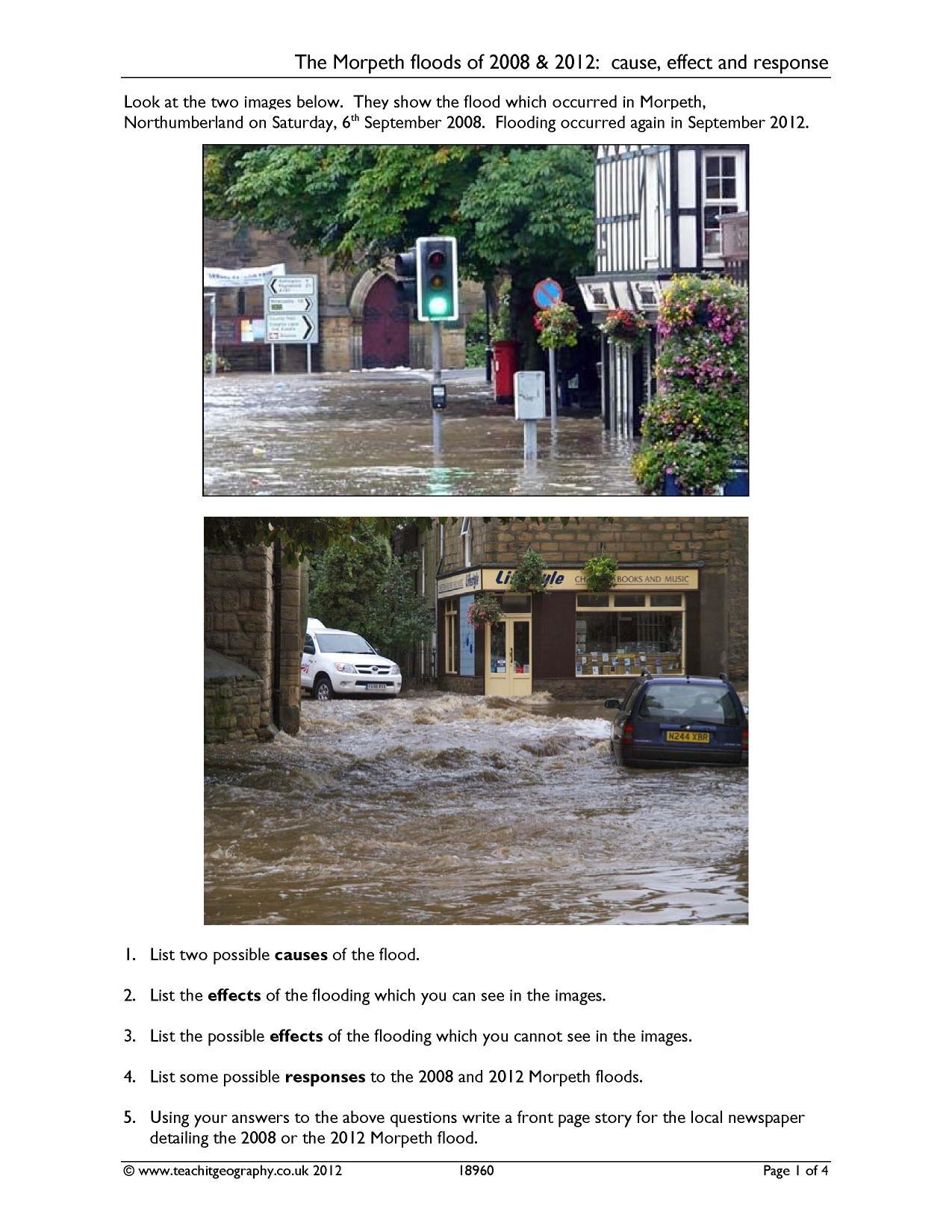 The boscastle flood (August 2004) - case study - SlideShare