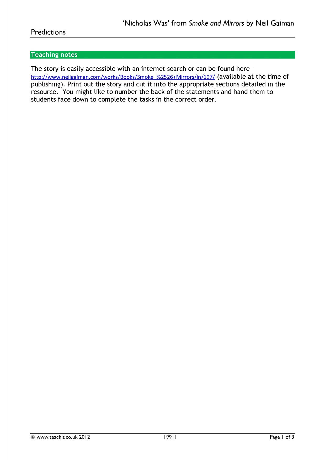 worksheet The Most Dangerous Game Comprehension Worksheet ks3 comprehension teachit english 1 preview