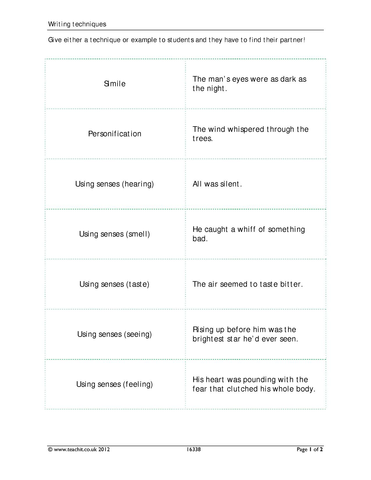 language techniques for creative writing Creative writing tips show how to improve writing skills through effective use of figurative language, action verbs and much more with examples from top authors.