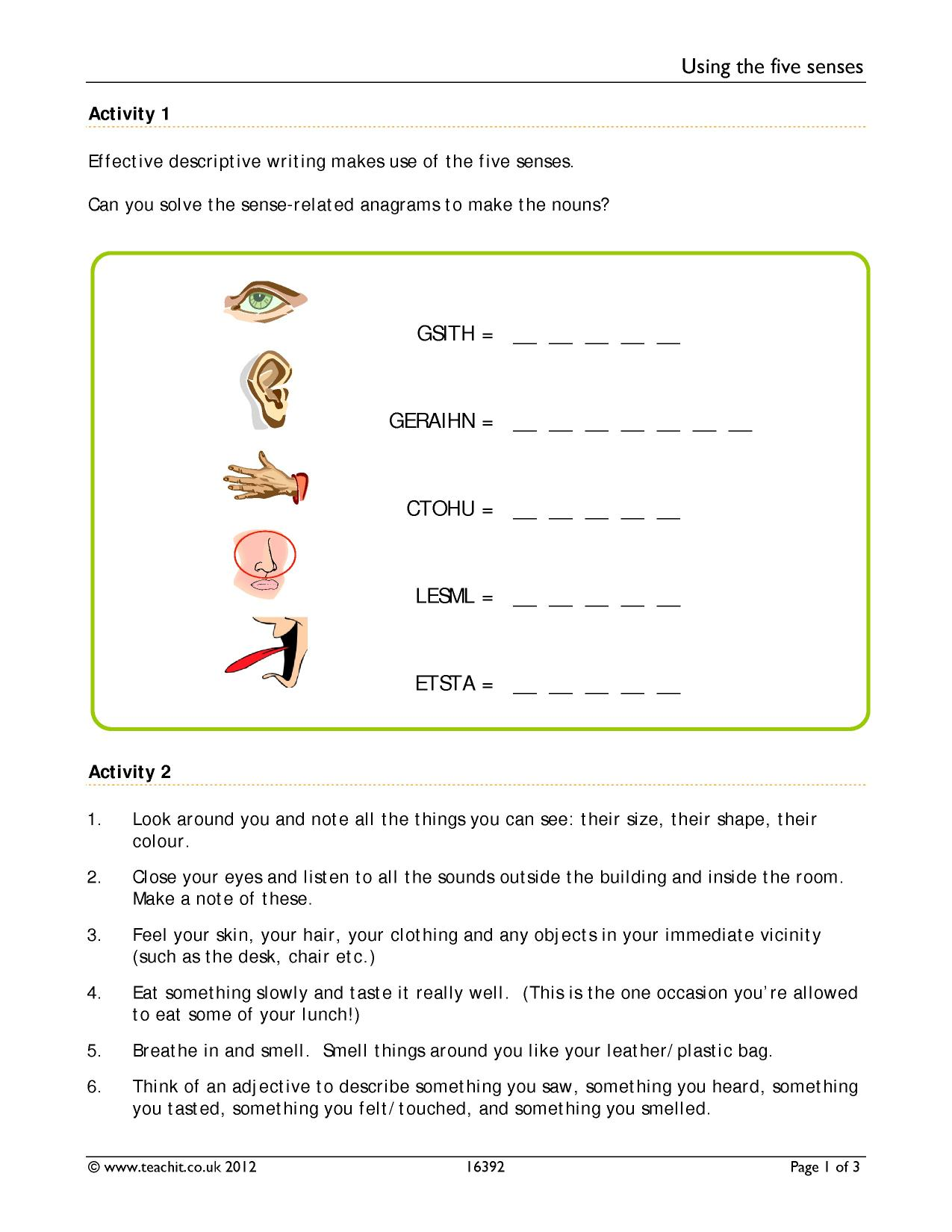 Descriptive language and using our senses | A descriptive writing lesson