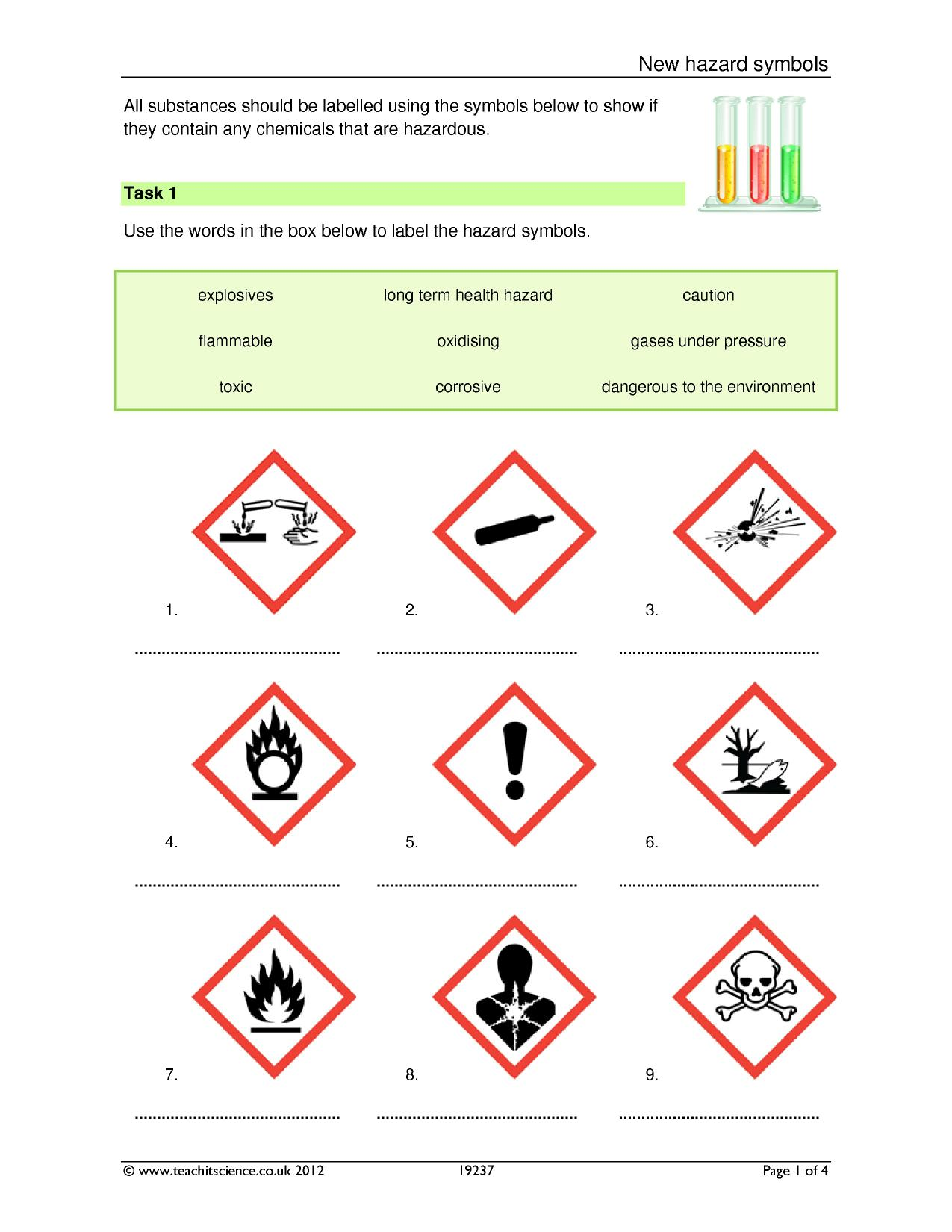 New hazard symbols working scientifically experimental skills resource thumbnail buycottarizona Image collections
