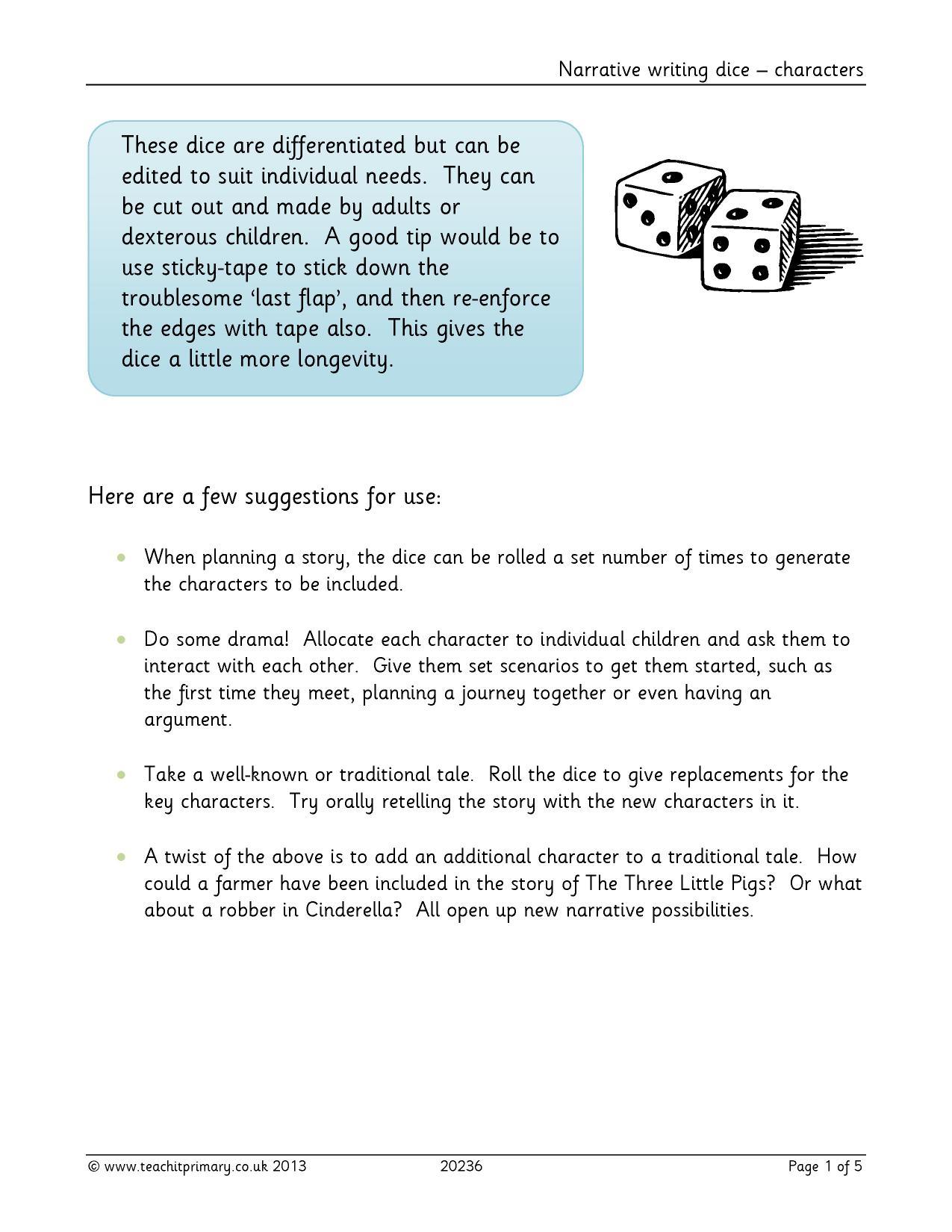 Ks1 Character Description Teachit Primary