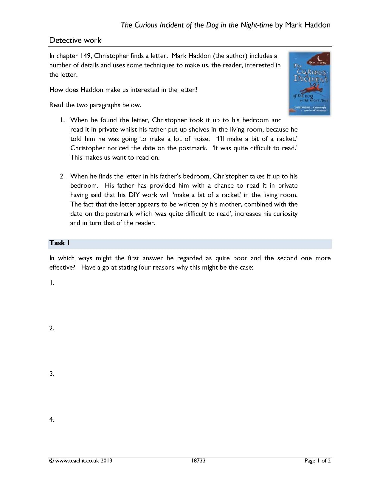 ks prose  the curious incident of the dog in the night time by   preview