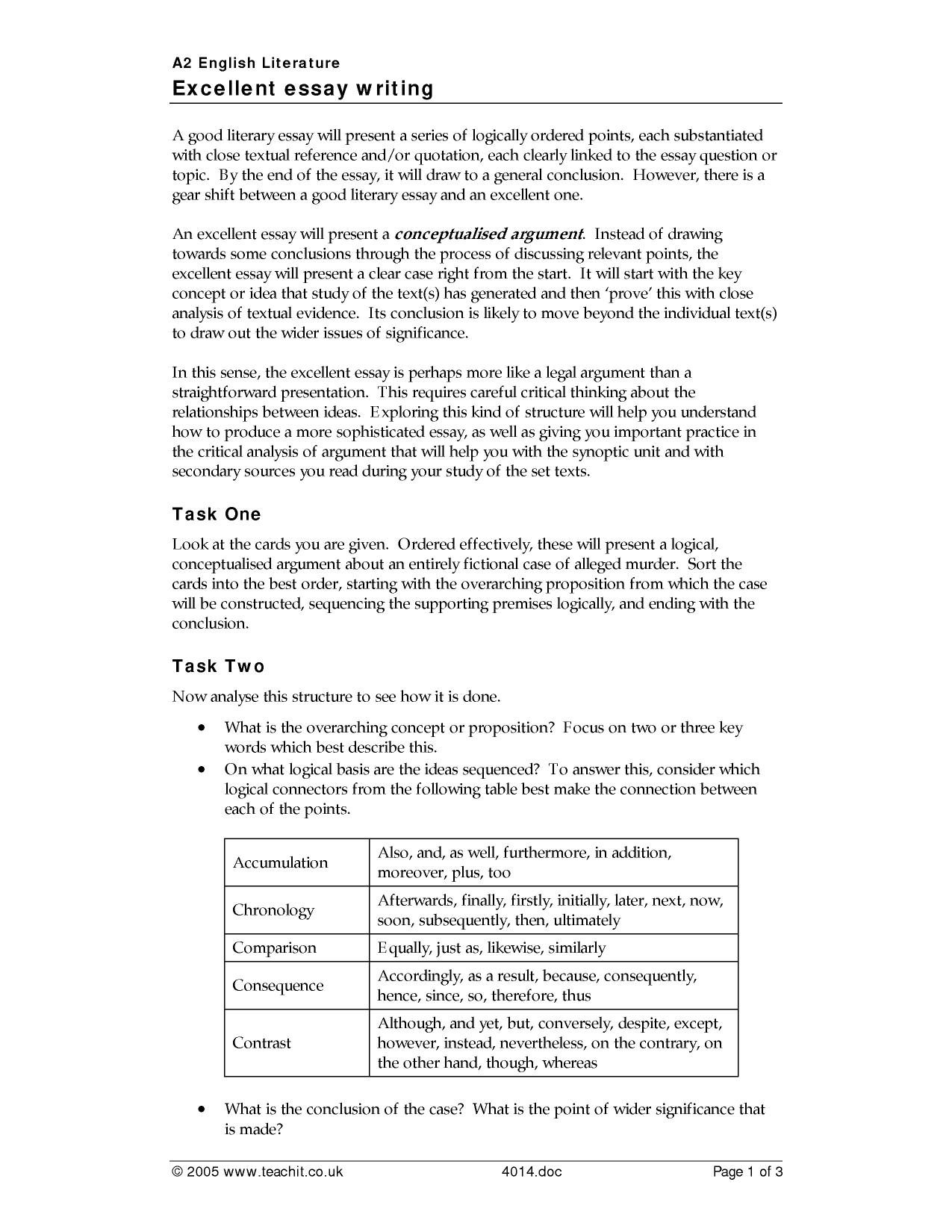 essay writing skills key stage english literature key 4 preview ks5 excellent essay writing