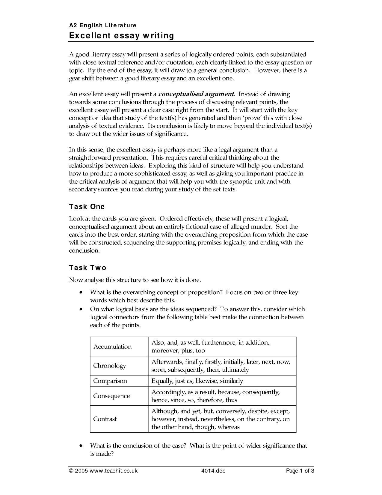 ks  essay writing  teachit english  preview