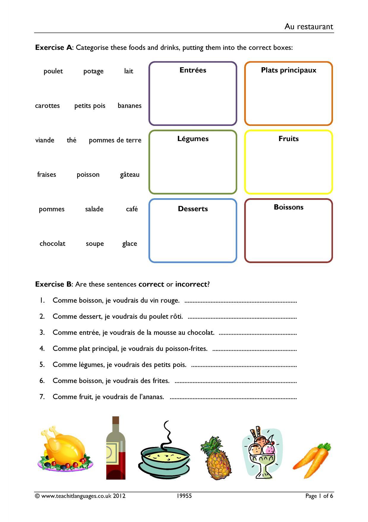 ks3 french food and drink teachit languages. Black Bedroom Furniture Sets. Home Design Ideas
