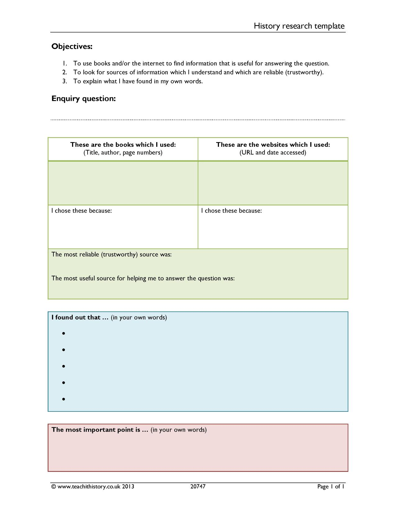 History Teaching Templates And Tools Teachit History