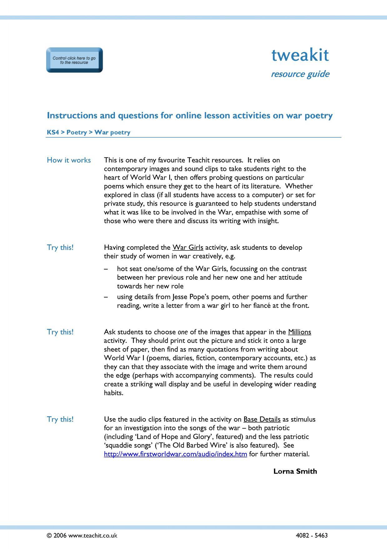 Poetry Analysis Worksheet Answer Key - Nidecmege