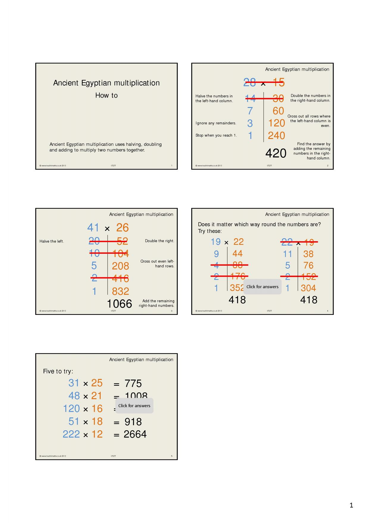 KS3 Multiplication and division